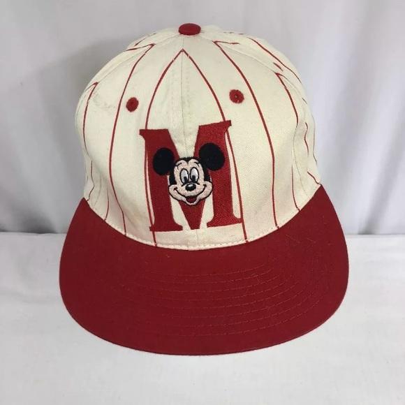 edcb556928d85 Vtg Disney MICKEY MOUSE Snapback Hat. M 5a8b5091fcdc314b3e7f031a